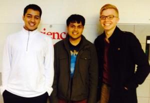 Pratik, Harshil and Danny