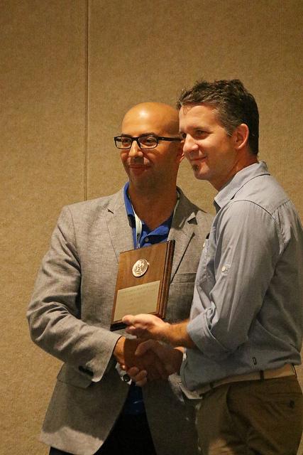 Amro receives the ESC's Hewitt Award, ICE, Orlando 2016