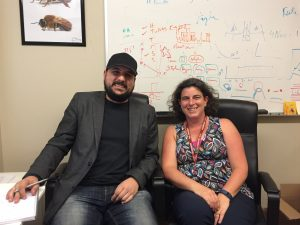 Math + Bees = Sweet Science :) Dr. Matt Betti (Left) and Professor Jane Heffernan (Right)...